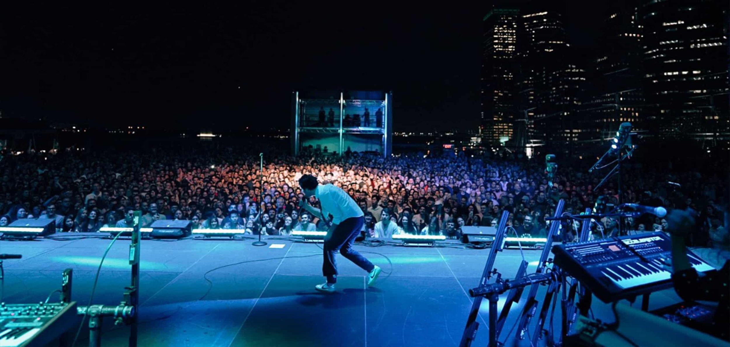 Passion Pit performing at Pier 17