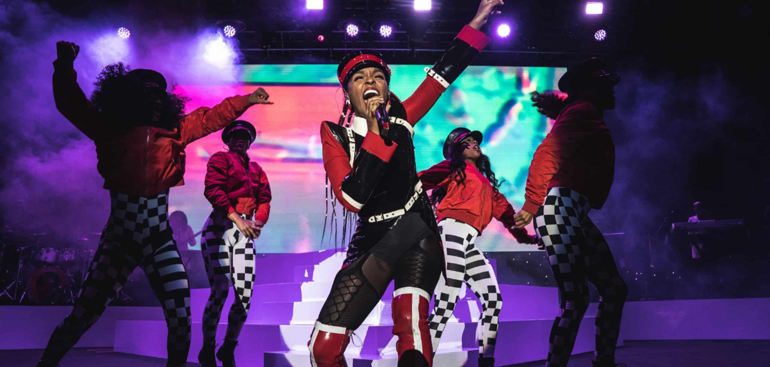 Janelle Monáe performing at Pier 17