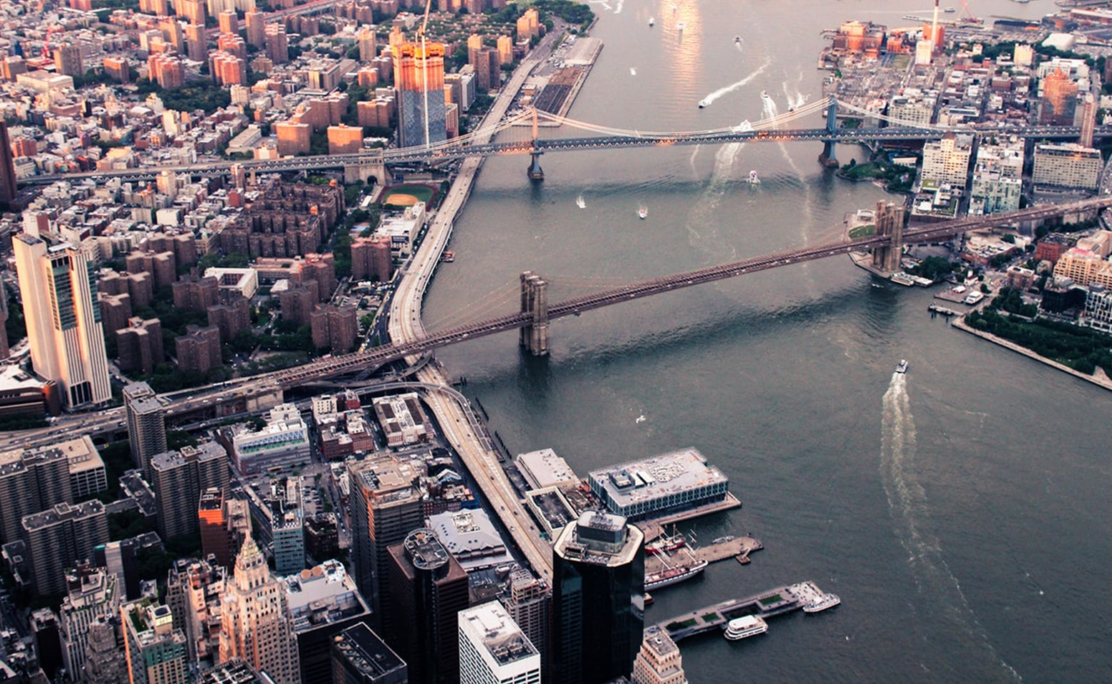 Aerial photo of lower Manhattan