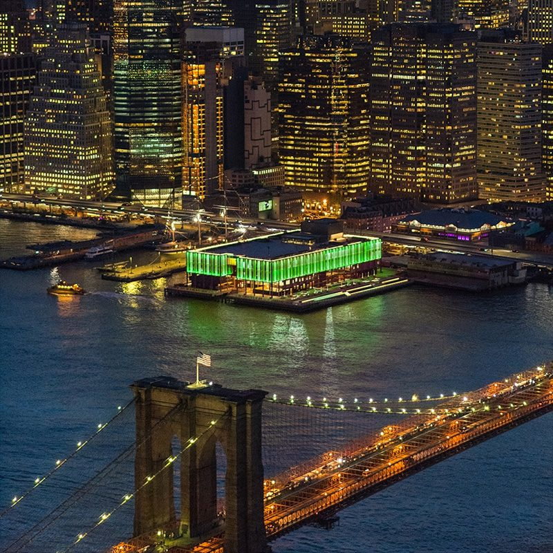 Lights at Pier 17 for Climate Week