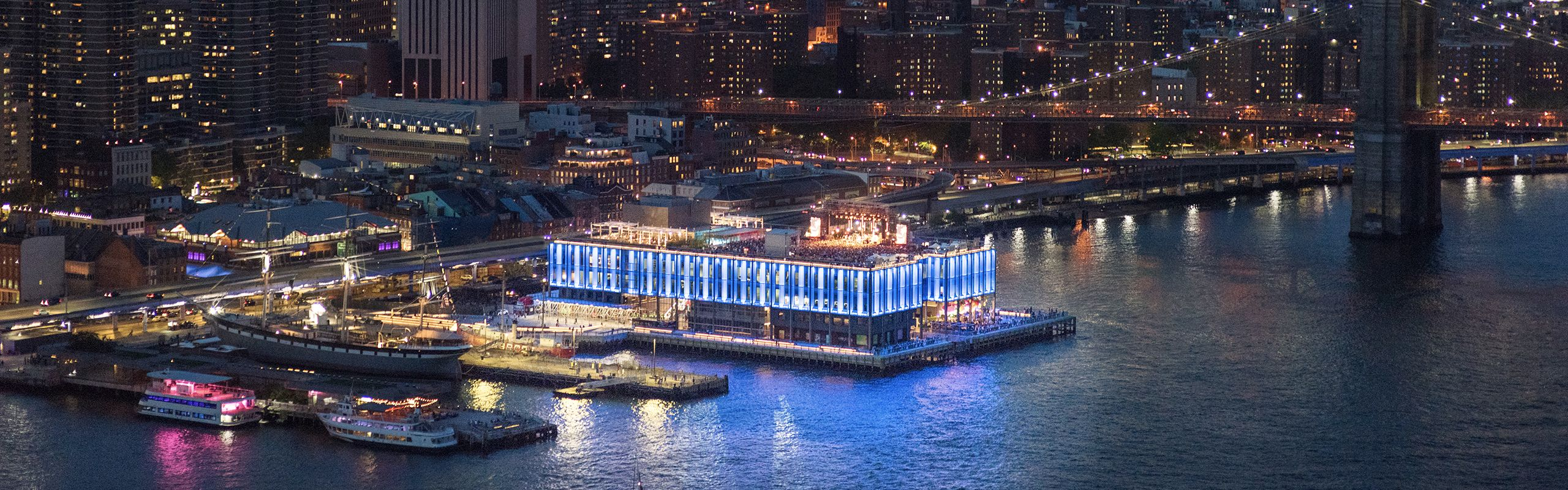 Aerial view of Pier 17