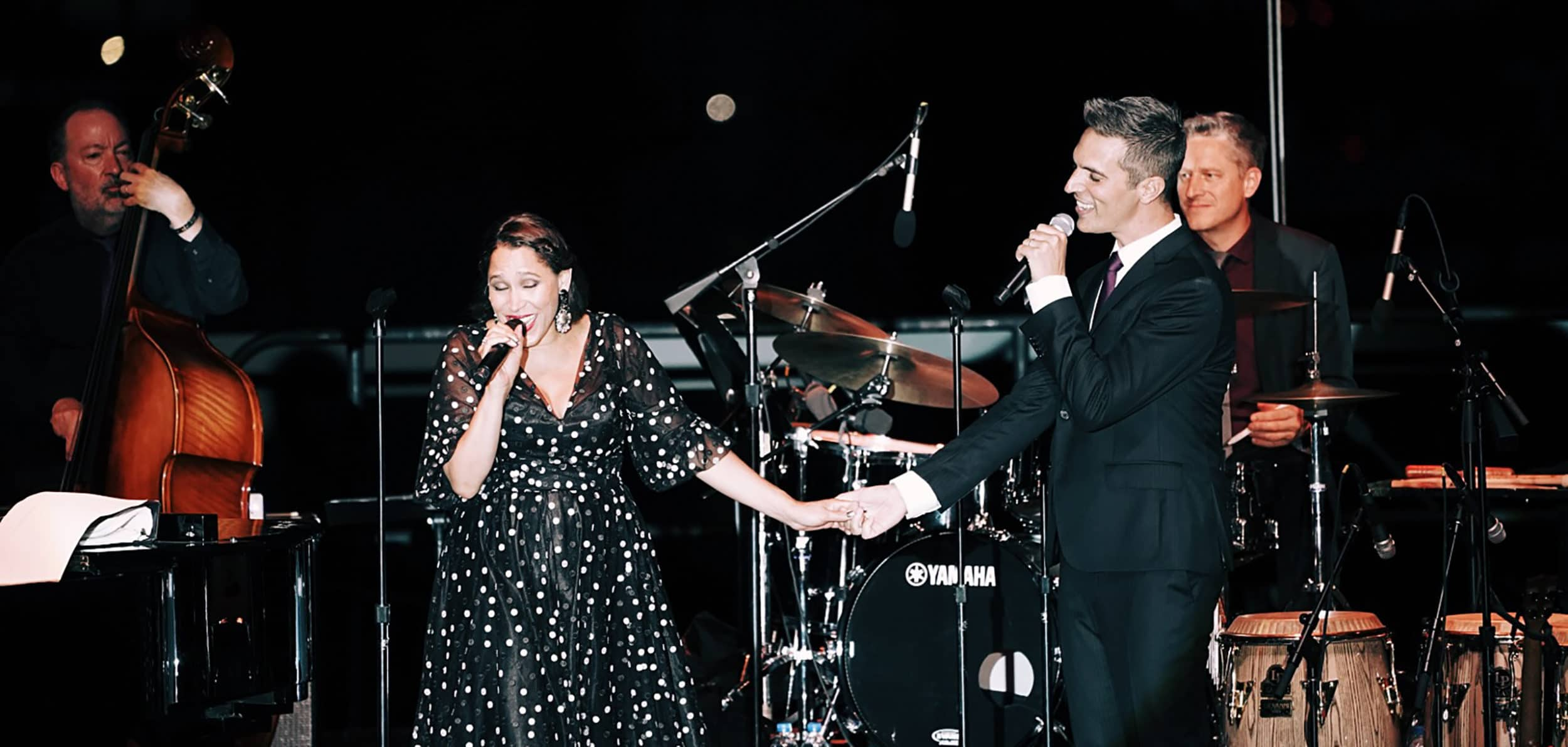 Pink Martini performing at the Rooftop at Pier 17